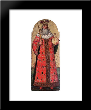 Saint Volodymyr The Great: Modern Black Framed Art Print by Ivan Rutkovych
