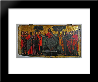Sermon Of Saint John The Baptist: Modern Black Framed Art Print by Ivan Rutkovych