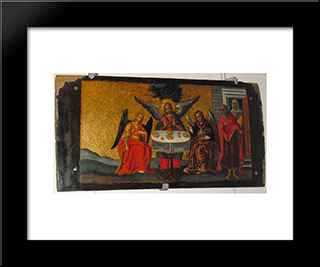 The Old Testament Trinity: Modern Black Framed Art Print by Ivan Rutkovych