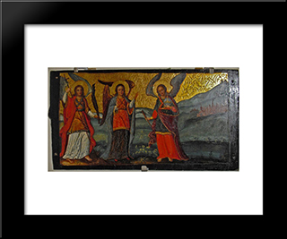 Three Angels: Modern Black Framed Art Print by Ivan Rutkovych