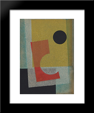 Collage: Modern Black Framed Art Print by Ivan Serpa