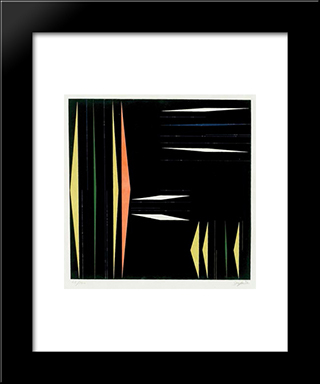 Composicao: Modern Black Framed Art Print by Ivan Serpa