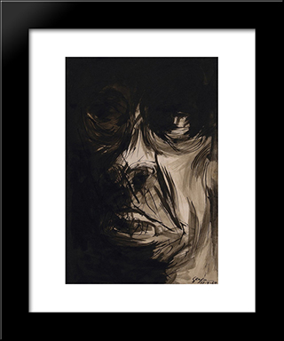 Figura (Fase Negra): Modern Black Framed Art Print by Ivan Serpa