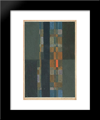 Geometric Composition: Modern Black Framed Art Print by Ivan Serpa