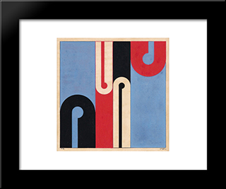 Goauche: Modern Black Framed Art Print by Ivan Serpa