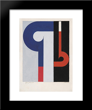 Gouache: Modern Black Framed Art Print by Ivan Serpa