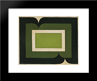 Serie Amazonica No 12: Modern Black Framed Art Print by Ivan Serpa