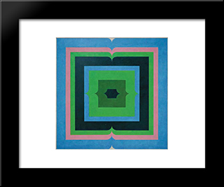 Serie Amazonica No 27: Modern Black Framed Art Print by Ivan Serpa