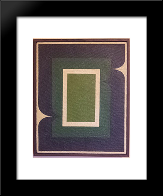 Serie Amazonica No 8: Modern Black Framed Art Print by Ivan Serpa