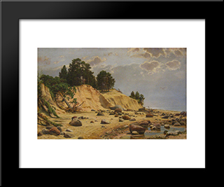 After A Storm In Mary-Howe: Modern Black Framed Art Print by Ivan Shishkin