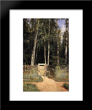 At The Wicket: Modern Black Framed Art Print by Ivan Shishkin