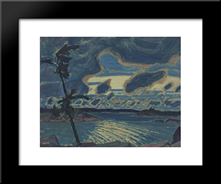 After Sunset, Georgian Bay: Modern Black Framed Art Print by J. E. H. MacDonald
