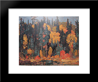 Algoma: Modern Black Framed Art Print by J. E. H. MacDonald