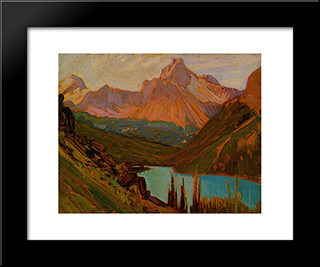 Cathedral Peak, Lake O'Hara: Modern Black Framed Art Print by J. E. H. MacDonald