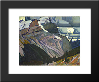 Dark Autumn, Rocky Mountains: Modern Black Framed Art Print by J. E. H. MacDonald