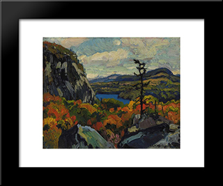 Early Autumn, Montreal River, Algoma: Modern Black Framed Art Print by J. E. H. MacDonald