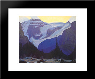 Early Morning, Rocky Mountains: Modern Black Framed Art Print by J. E. H. MacDonald