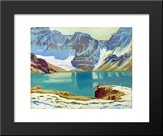 Lake Mcarthur, Yoho Park: Modern Black Framed Art Print by J. E. H. MacDonald