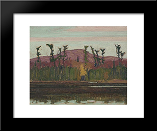 Layton'S Lake, Algoma: Modern Black Framed Art Print by J. E. H. MacDonald