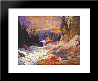 Montreal River: Modern Black Framed Art Print by J. E. H. MacDonald