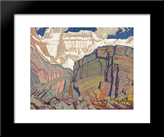 Mount Lefroy: Modern Black Framed Art Print by J. E. H. MacDonald