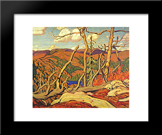 Northland Hilltop: Modern Black Framed Art Print by J. E. H. MacDonald