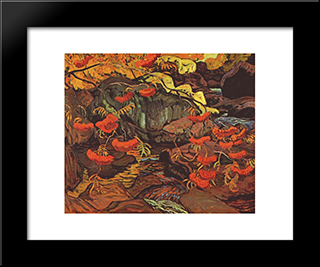 Rowanberries (Mountain Ash), Algoma: Modern Black Framed Art Print by J. E. H. MacDonald