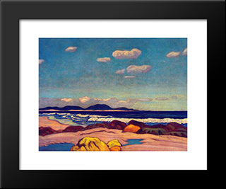 Seashore, Nova Scotia: Modern Black Framed Art Print by J. E. H. MacDonald
