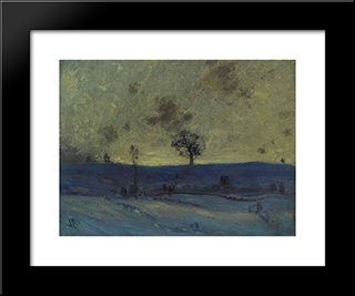 Snowfields, Evening: Modern Black Framed Art Print by J. E. H. MacDonald