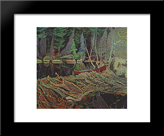 The Beaver Dam: Modern Black Framed Art Print by J. E. H. MacDonald