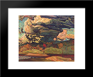 The Elements: Modern Black Framed Art Print by J. E. H. MacDonald