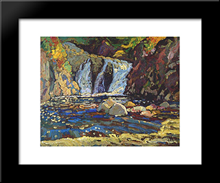 The Little Falls Sketch: Modern Black Framed Art Print by J. E. H. MacDonald