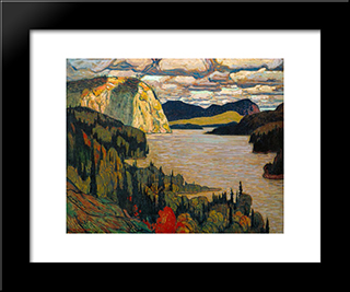 The Solemn Land: Modern Black Framed Art Print by J. E. H. MacDonald