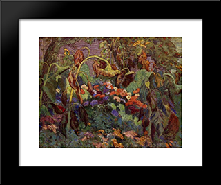 The Tangled Garden: Modern Black Framed Art Print by J. E. H. MacDonald