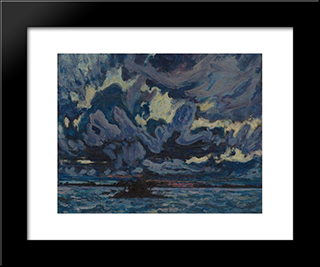 Wind Clouds: Modern Black Framed Art Print by J. E. H. MacDonald