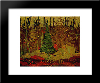 Young Canada: Modern Black Framed Art Print by J. E. H. MacDonald