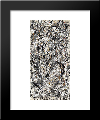 Cathedral: Modern Black Framed Art Print by Jackson Pollock
