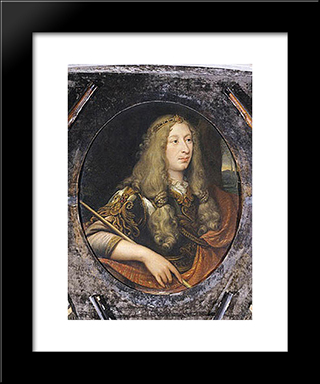 Louis Ii De Bourbon, Duc D'Enghien: Modern Black Framed Art Print by Jacques Stella