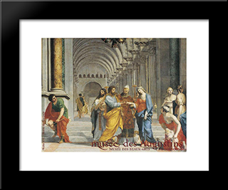 Marriage Of The Virgin: Modern Black Framed Art Print by Jacques Stella
