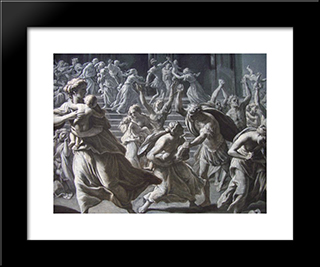 Massacre Of The Innocents: Modern Black Framed Art Print by Jacques Stella