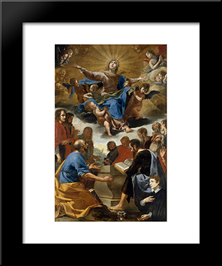 The Assumption: Modern Black Framed Art Print by Jacques Stella