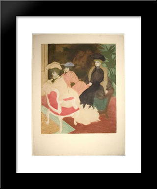 Comedy Of Society: Modern Black Framed Art Print by Jacques Villon