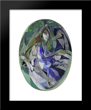 Girl At The Piano (Fillette Au Piano): Modern Black Framed Art Print by Jacques Villon