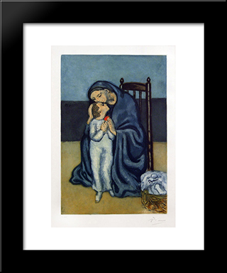 Maternite (After Picasso): Modern Black Framed Art Print by Jacques Villon