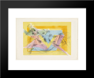 Rider In The Ring: Modern Black Framed Art Print by Jacques Villon