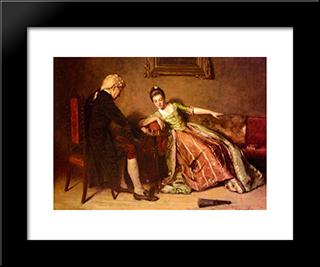 A Game Of Chess: Modern Black Framed Art Print by James Hamilton