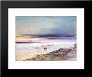 Beach Scene: Modern Black Framed Art Print by James Hamilton