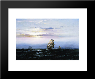 Delaware Bay: Modern Black Framed Art Print by James Hamilton