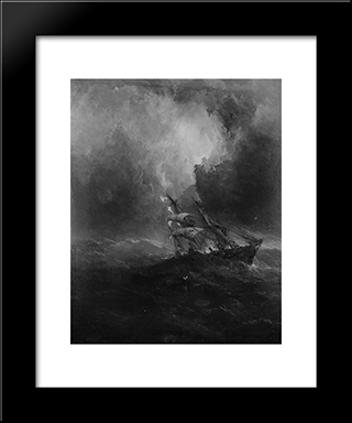 Foundering: Modern Black Framed Art Print by James Hamilton