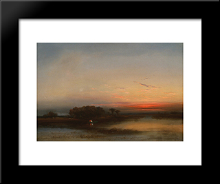 In Thesalt Marshes Of N. J.: Modern Black Framed Art Print by James Hamilton